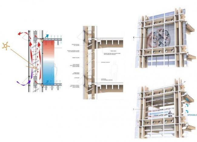 Здания Swatch и Omega. Фасад корпуса Omega © Shigeru Ban Architects