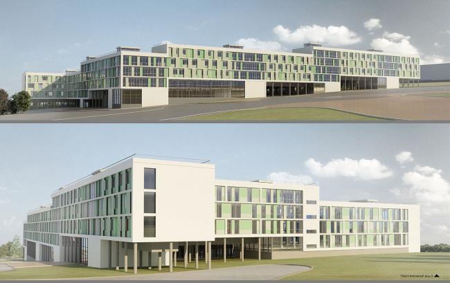 Проект комплекса студенческого общежития переменной вместимости. «Гинзбург Архитектс» (г. Москва)