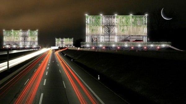 «Дом-билборд» с «открытым» фасадом. Изображение Apostrophy's