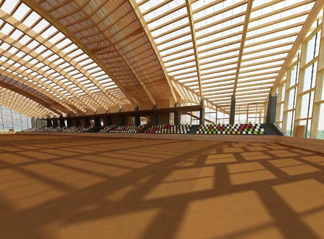 Большой манеж Президентского Поло Клуба © Архитектурная мастерская Тотана Кузембаева