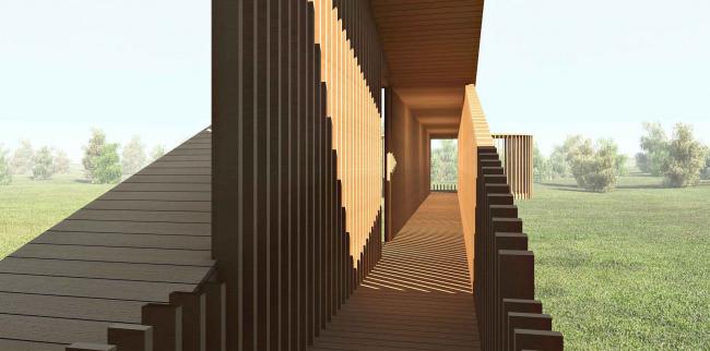Проект типового дома Президентского Поло Клуба © Архитектурная мастерская Тотана Кузембаева