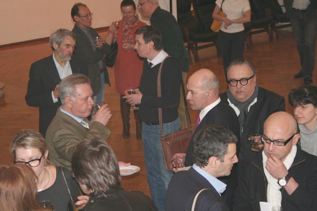Поздравить архитектора собрались коллеги юбиляра – А.Боков, В.Плоткин, Н.Лызлов, А.Асадов и многие другие