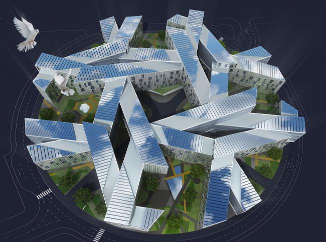 Проект авторского коллектива под руководством Дмитрия Буша. Вид с высоты птичьего полета