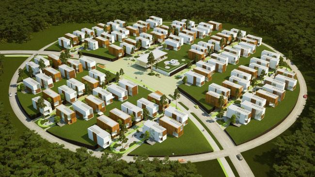 """Проект архитектурной мастерской """"UNK-project"""". Вид с высоты птичьего полета"""