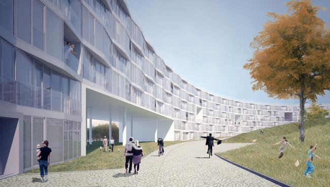 Проект Архитектурной группы ДНК. Вид застройки