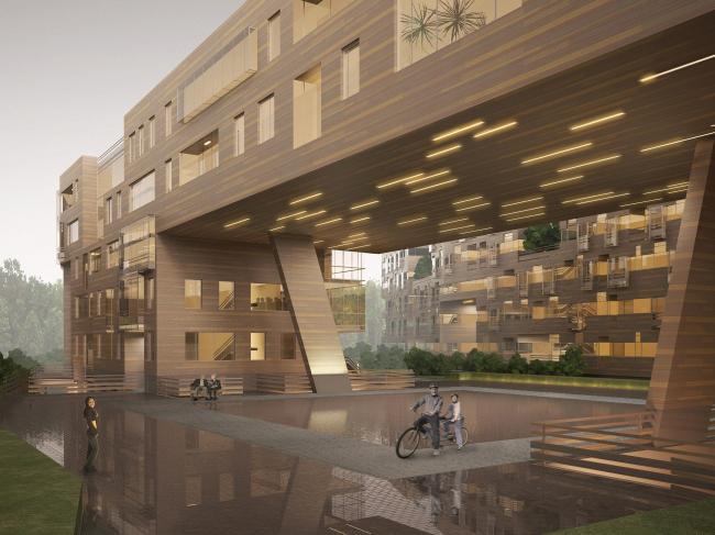 Проект Архитектурно-художественных мастерских архитекторов Величкина и Голованова. Вид застройки