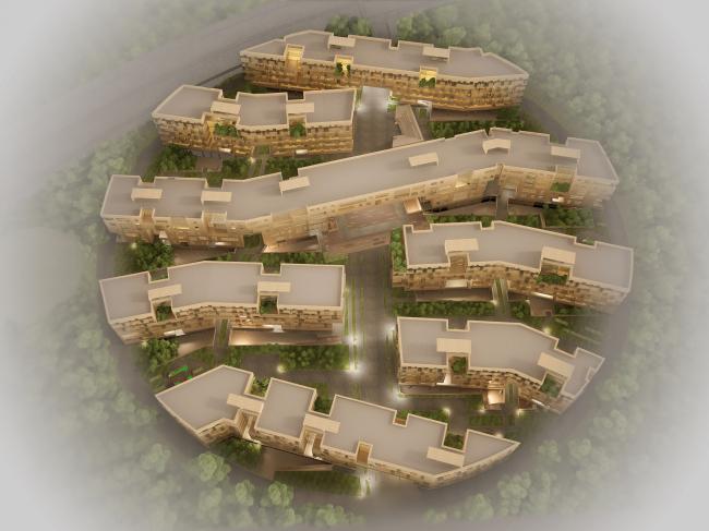 Проект Архитектурно-художественных мастерских архитекторов Величкина и Голованова. Вид с высоты птичьего полета