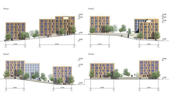 Эскиз застройки для жилого комплекса в бухте «Патрокл», Владивосток © ТПО «Резерв»