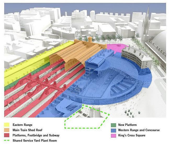 Вокзал Кингс-Кросс - реконструкция © John McAslan + Partners