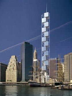 Проект жилой башни в Нижнем Манхэттене, арх. С. Калатрава