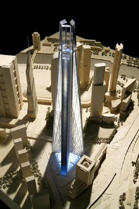 Проект башни «Россия» в Москве, арх. Н. Фостер