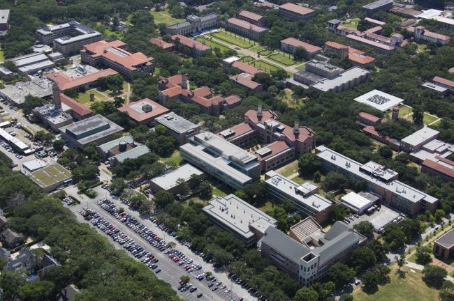 Корпус факультета физики им. Брокмана университета Райса © Red Wing Aerials