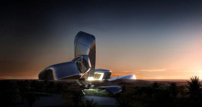 Центр знаний и культуры Короля Абдулазиза в Саудовской Аравии Проект © Snøhetta. Фото предоставлено Музеем архитектуры