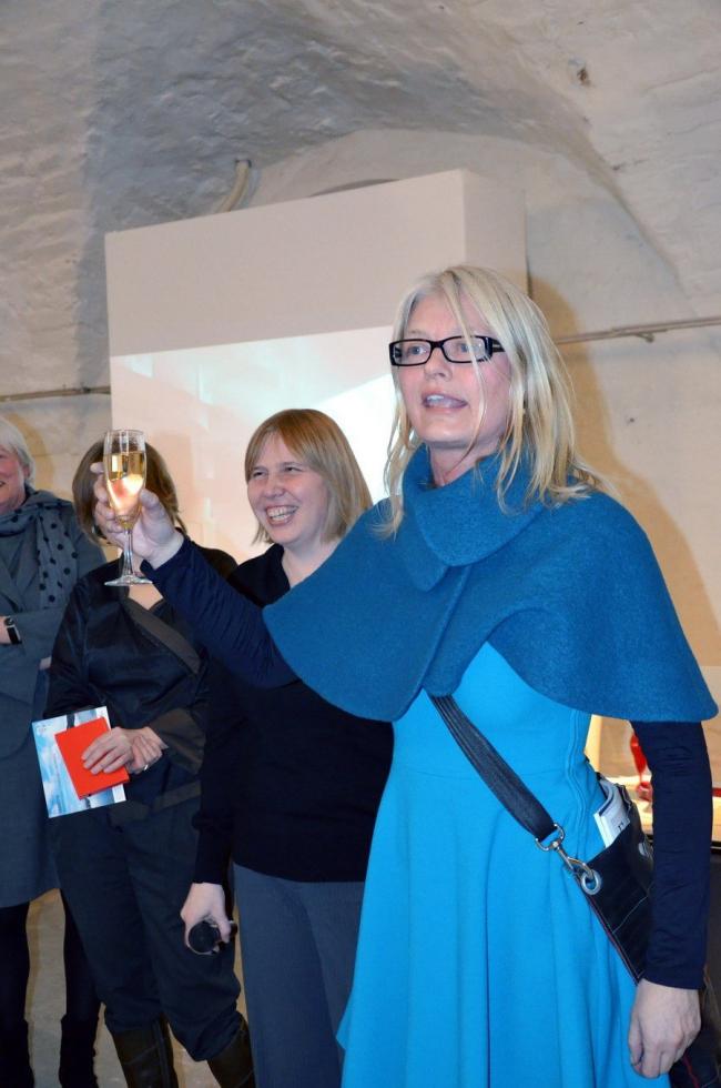 """Йенни Осульдсен («Снохетта») открывает выставку """"Snøhetta: архитектура – ландшафт – интерьер"""" в МуАр. Фото Елены Петуховой"""