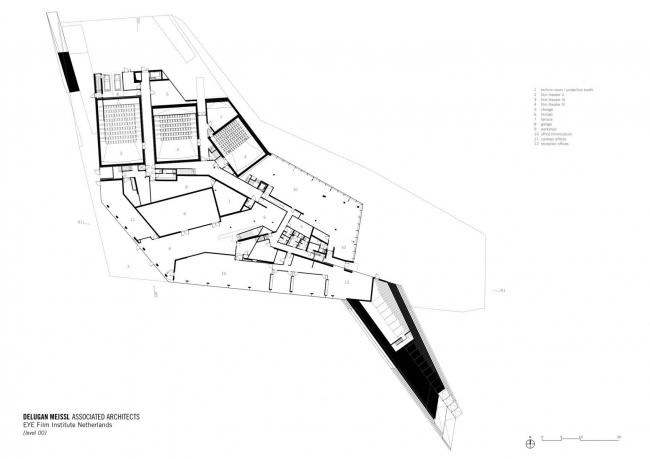 Нидерландский институт кино EYE © Delugan Meissl Associated Architects