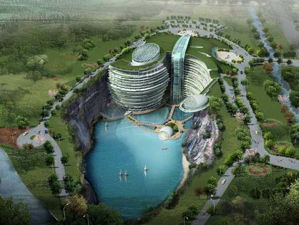 """«Карьерный» отель бюро """"Atkins"""" в Сунцзяне. Проект"""