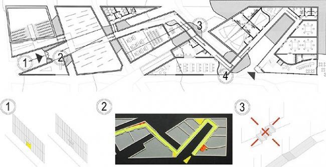 I место в номинации «Безбарьерная среда», «Архитекторы»: Andrzej Leszczynski (Польша), с проектом многофункционального здания для слепых.Стены коридора жестко задают направление движения, на котором нет опасных препятствий.