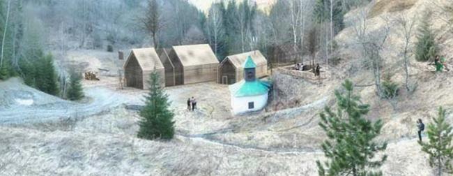 I место в номинации «Безбарьерная среда», «Студенты» Michal Ganobjak (Словакия), проект рекреационного и туристического центра Enviropark в Spania Dolina. Сохранившаяся часовня формирует площадь нового поселения.