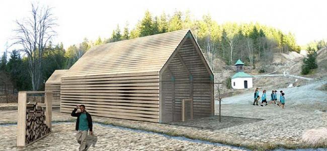 I место в номинации «Безбарьерная среда», «Студенты» Michal Ganobjak (Словакия), проект рекреационного и туристического центра Enviropark в Spania Dolina. Здание культурного центра. Еще один уровень скрыт под землей.