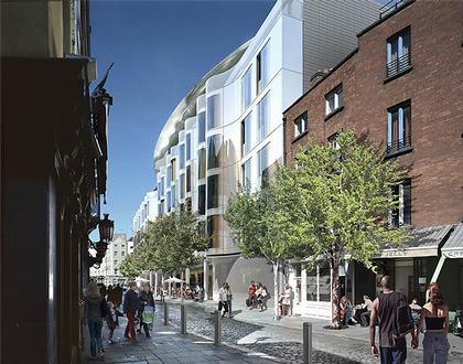 Отель «Клэренс». Проект. Фасад по Ист Эссекс Стрит