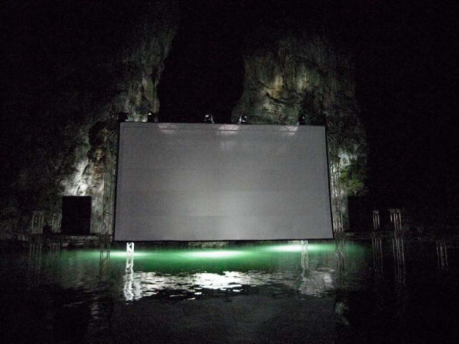 Плавучий кинотеатр Archipelago Cinema. Фото Sixtysix Visual