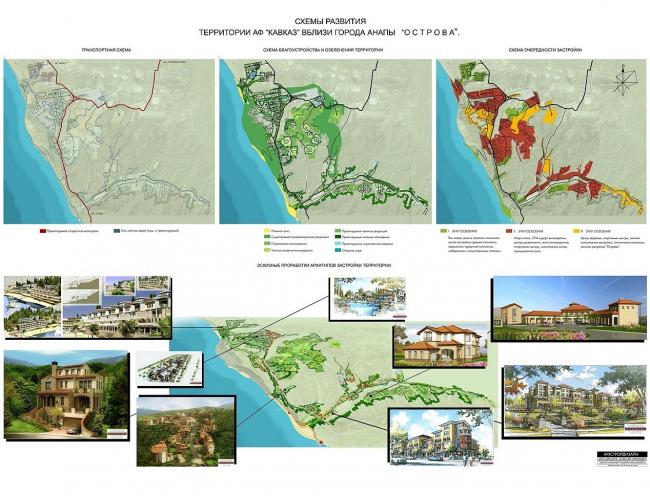 Схемы развития территории АФ «Кавказ» вблизи города Анапы «Острова»