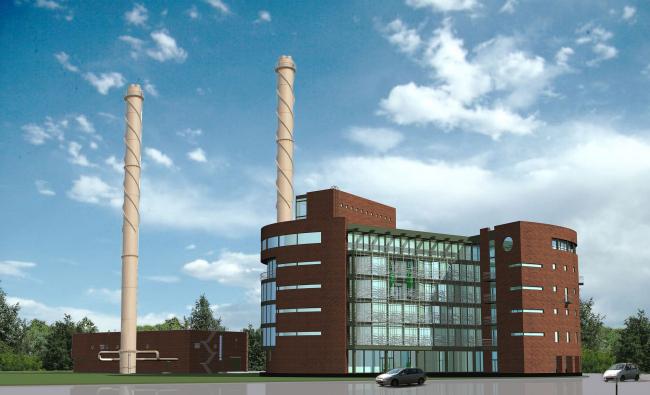 Здание котельной. Проект, 2006 © Архстройдизайн