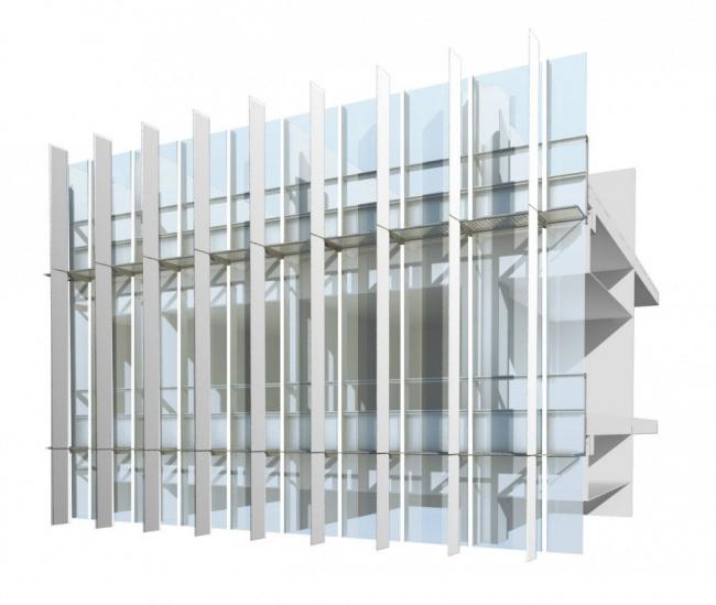 Медицинский город Шейха Халифы. Схема фасада общего типа © SOM