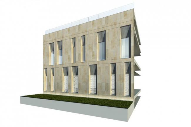 Медицинский город Шейха Халифы. Схема фасада цокольного этажа © SOM