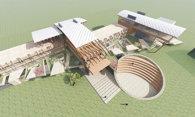 Проект реновации пионерского лагеря © Архитектурное бюро Романа Леонидова