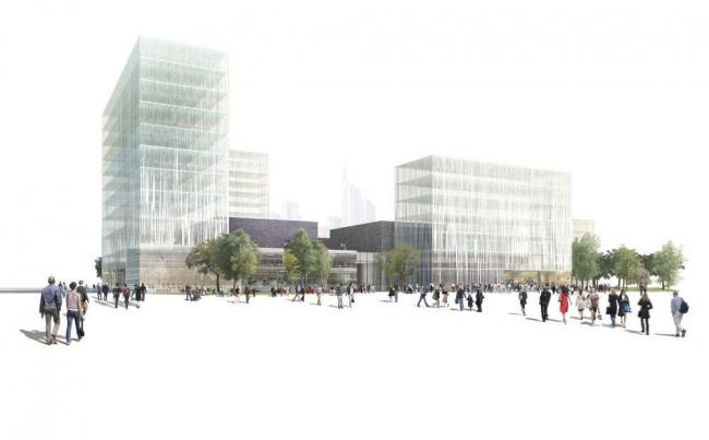 Франкфуртский кампус культуры © Adjaye Associates