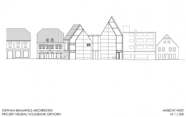 Здание Volksbank © Stephan Braunfels Architekten