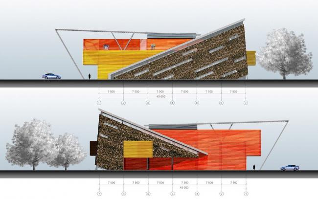 Проект развлекательно центра, в проектировании которого Иван Овчинников участвовал во время работы в мастерской А.Асадова