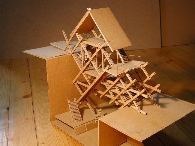 Макет моста на 2 курсе МАрхИ