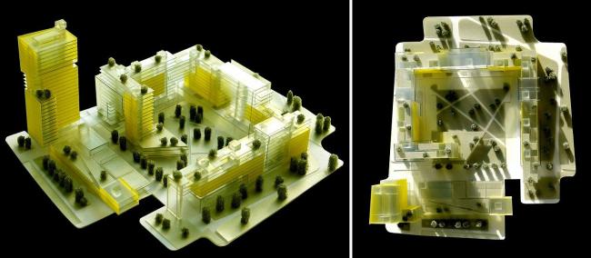 Проект жилого микрорайона на месте ДОК-17. Сделано в мастерской А.Асадова. В конкурсе победили, но объект не построился.