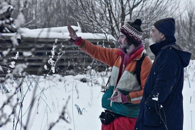 Разведка под Галичем с Николаем Белоусовым и Мишей Антоновым. Фотография Ивана Овчинникова