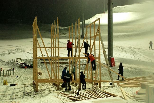 Строительство АрхПриюта. Фотография Ольги Штыльковой
