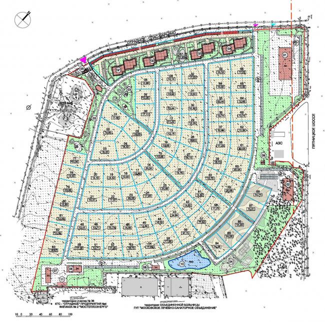 Генеральный план поселка