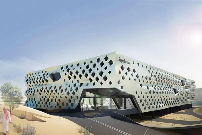Гибкий офисный модуль для Образовательного города в Доха. © LAVA