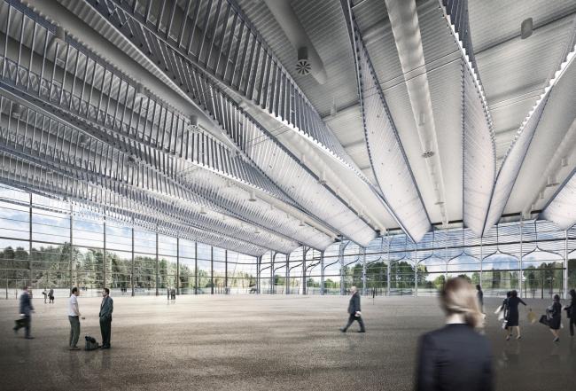 Павильон 3А Нюрнбергского выставочного комплекса © Zaha Hadid Architects