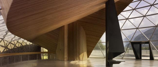 Штаб-квартира компании Rossignol. Проект © Herault Arnod Architectes