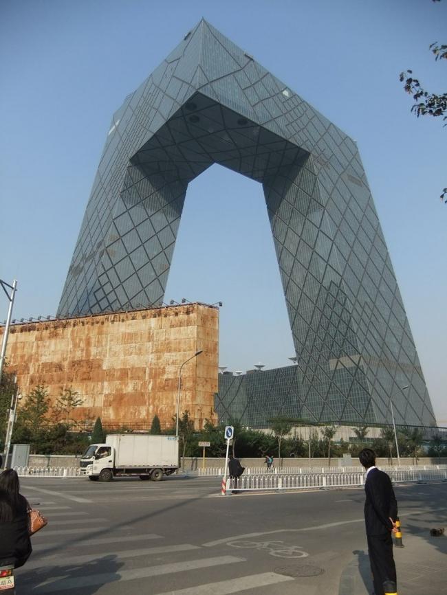 Здание Центрального Китайского Телевидения © OMA