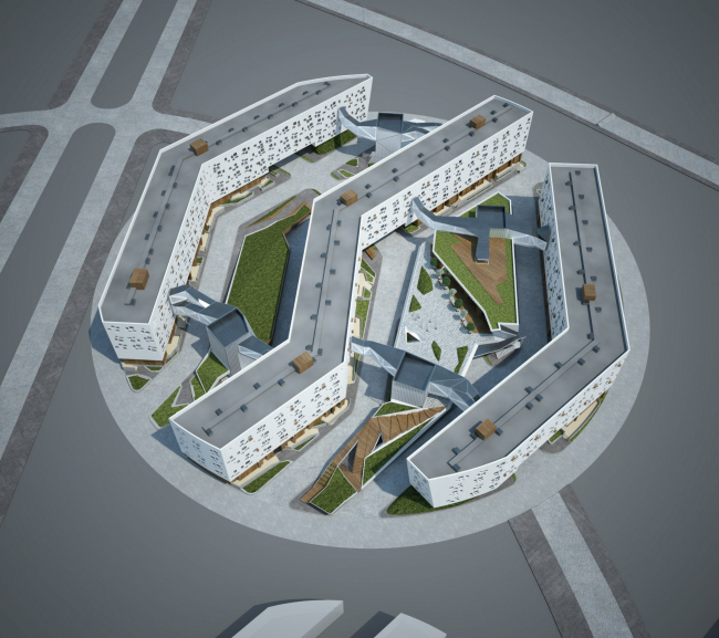 "The concept of residential housing of Site #5 of ""Skolkovo"" innovation center. Competitive project."