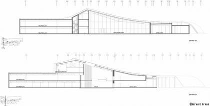 «Herault Arnod Architectes». Штаб-квартира компании Rossignol. Проект. Разрез
