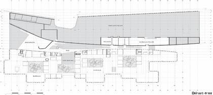 «Herault Arnod Architectes». Штаб-квартира компании Rossignol. Проект. План первого уровня