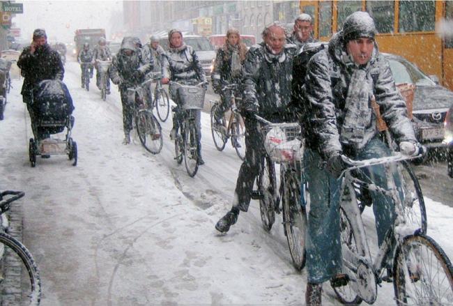 70% жителей Копенгагена не расстаются с велосипедами даже зимой © Ян Гейл