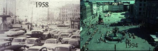 На месте парковок в Копенгагене появились площади © Ян Гейл