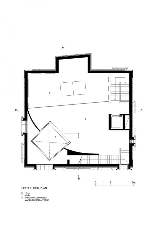 Музей Беноццо Гоццоли. План 2-го этажа © Massimo Mariani Studio