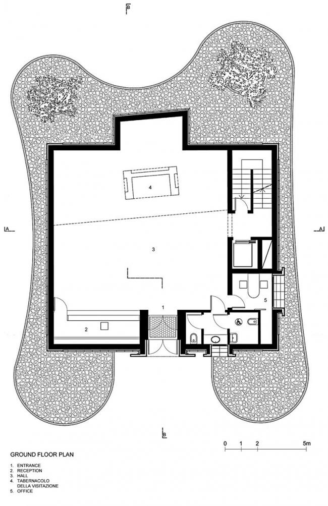 Музей Беноццо Гоццоли. План 1-го этажа © Massimo Mariani Studio