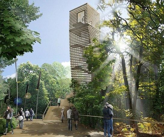 Конкурсный проект благоустройства общественного пространства в Киеве «Central Park». М.Бейлин и Д.Никишин, Группа Горожане/ CITIZENSTUDIO.